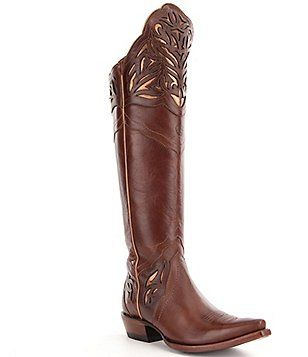 bd70c0355b6 Ariat Chaparral Leather Metallic Inlay Laser Cut Detail Over The ...