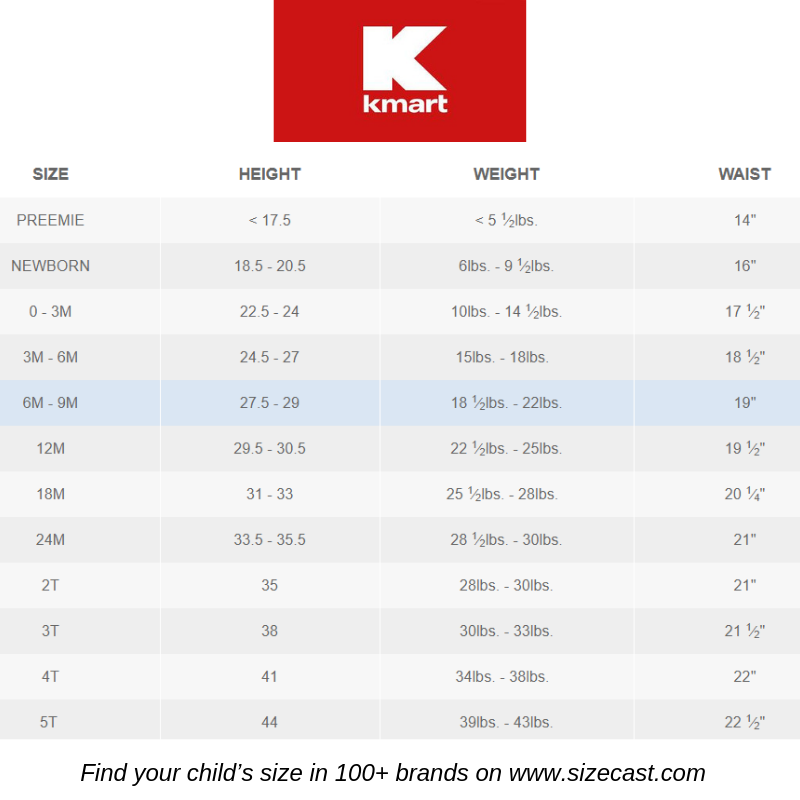 Kmart Size Chart Baby Clothes Size Chart Baby Clothing Size Chart Kids Clothes Size Chart Kids Baby Clothes Size Chart Baby Clothes Sizes Baby Growth Chart
