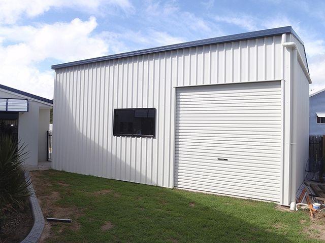 Colorbond Shed Surfmist Google Search Metal Building Homes Garage Workshop Pool House
