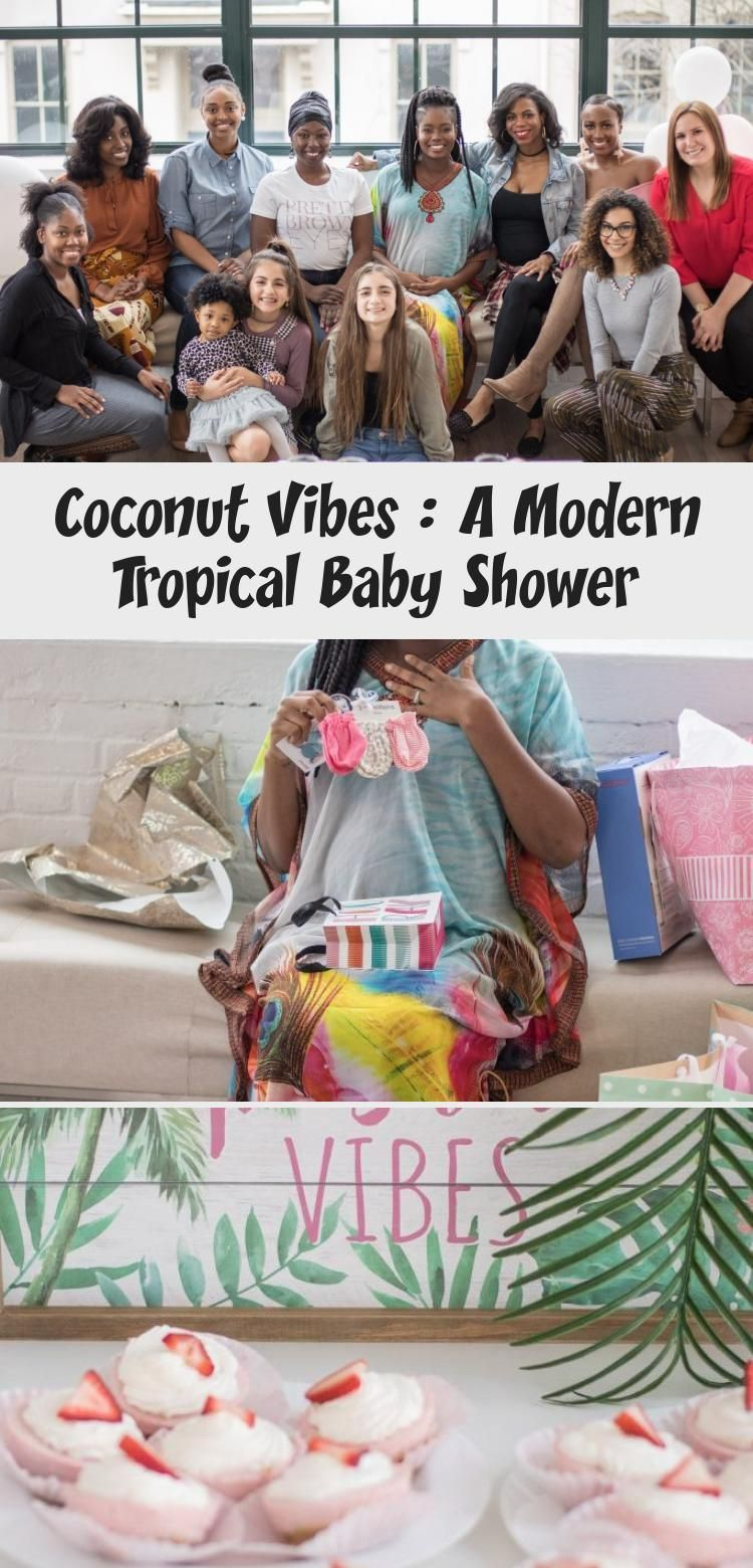 Coconut Vibes : A Modern Tropical Baby Shower - health and diet fitness -  Coconut Vibes: A Modern T...