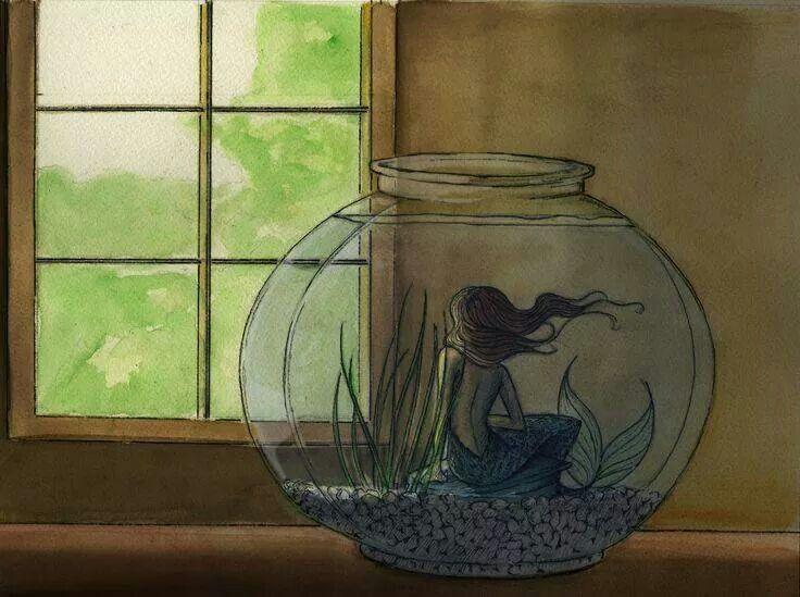 Landlocked mermaid