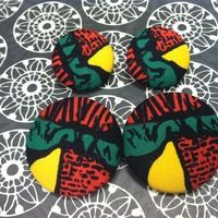Rasta Vibes button earrings.  Follow us on Instagram @Natural State Hair Care Boutique for more great pieces.  #fashion #afrocentric