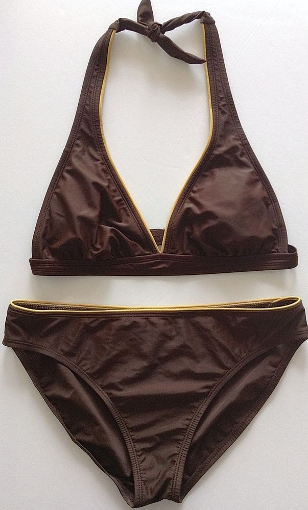 ddb7b5ff4e Isaac Mizrahi For Target Bikini 2 Piece Swimsuit Brown Gold Size Large  Lined…