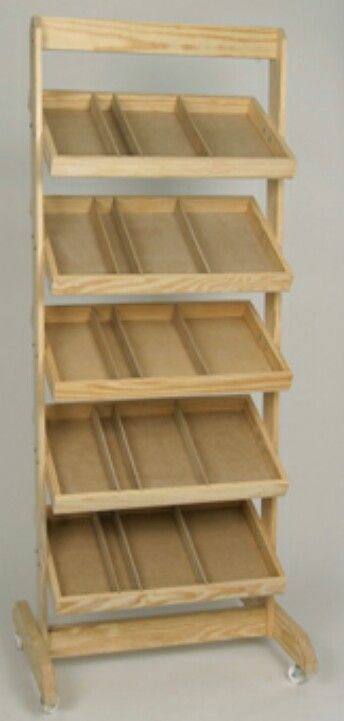 Portable Storage Shelf Wooden Display Stand Retail Display Wooden Crate
