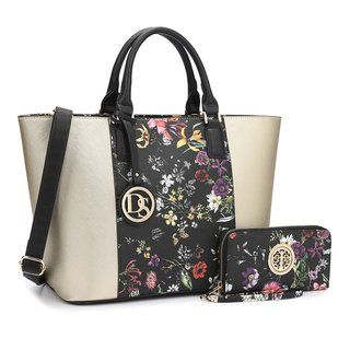 a7513c20068 Dasein Multicolor Faux Leather Medium Classic Tote Bag with Matching ...