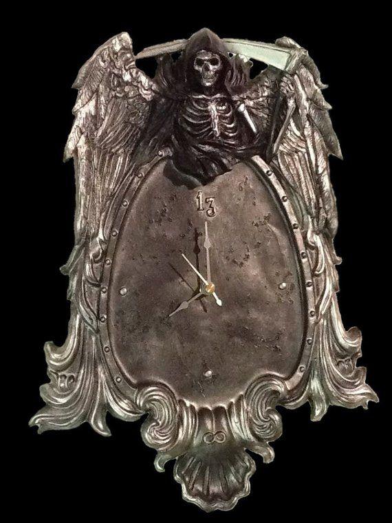 grim reaper wall hanging clock hanging clock clock on kim wall murder id=11545