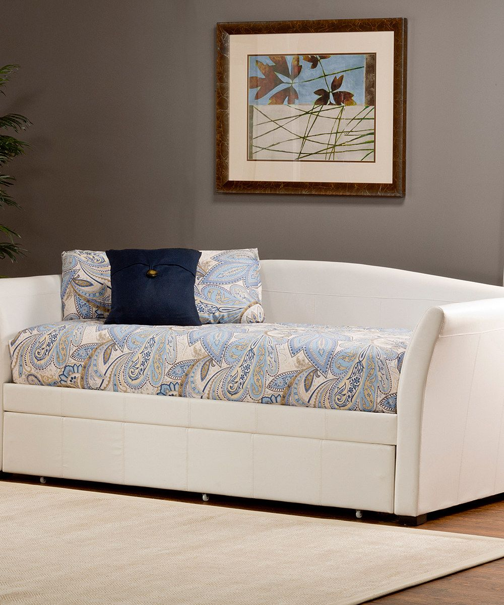 Daybed with pop up trundle ikea look at this white faux leather montgomery daybed u trundle on