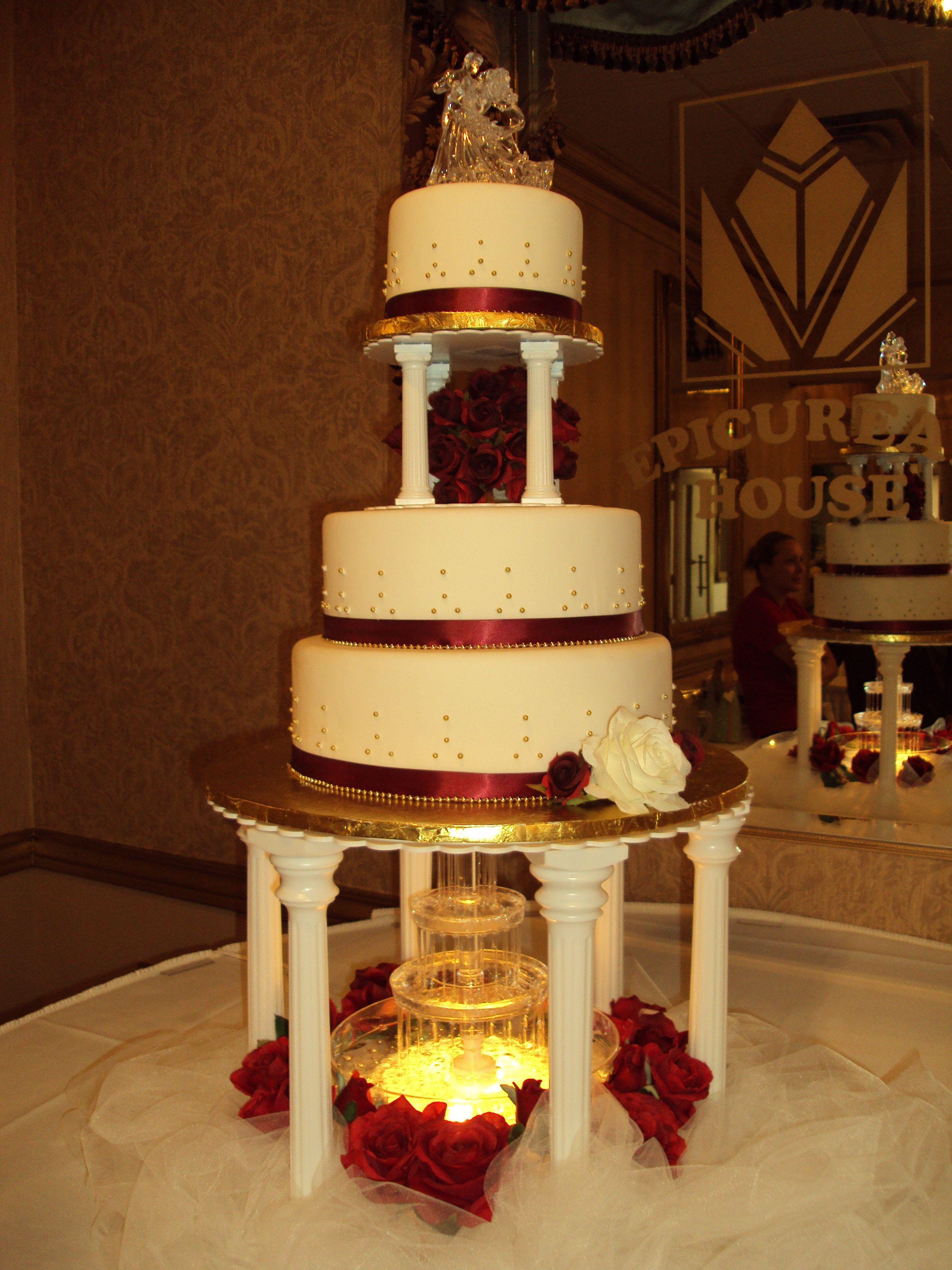 fountain wedding cake fountain wedding cake i did