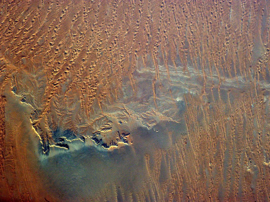 Even from 400 km up you can sense the searing dryness of