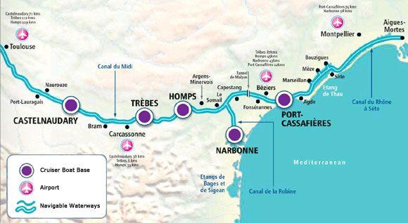 Canal Du Midi Map canal du midi map   Google Search | Barge Trip   Canal du Midi