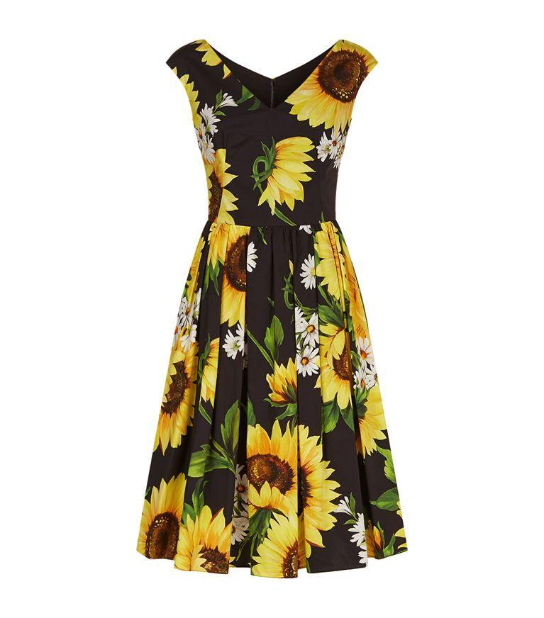 0fd9d09043b22 DOLCE & GABBANA Sunflower Print Cotton Dress. #dolcegabbana #cloth ...