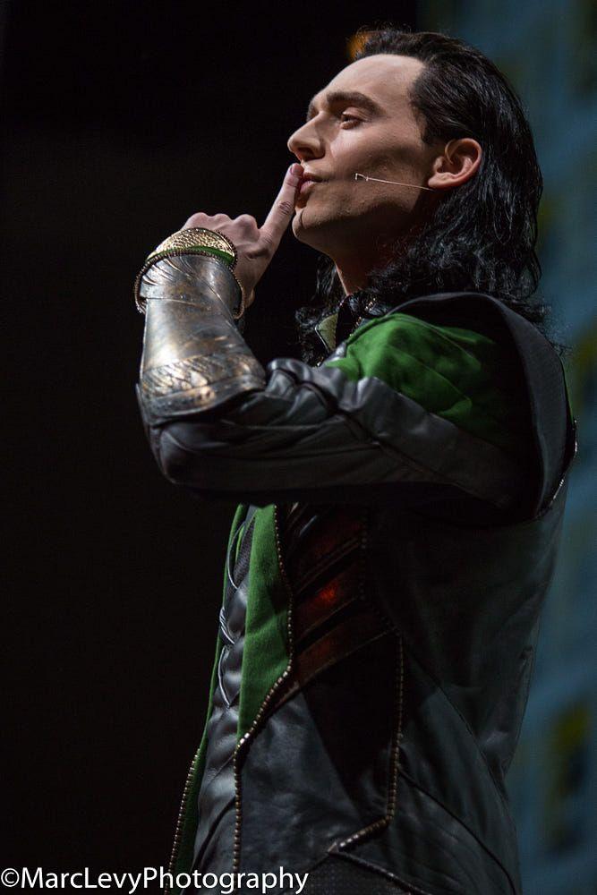 Tom Hiddleston at SDCC 2013. Via Torrilla