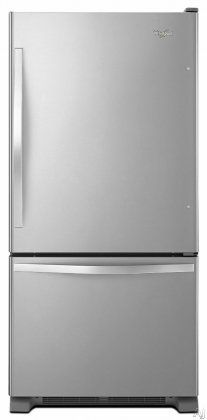 "Whirlpool WRB329DMBM 30"" Bottom Freezer Refrigerator 