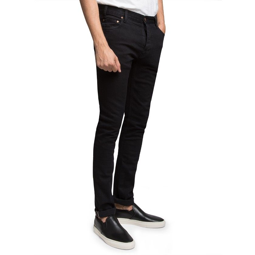 These are no ordinary black jeans. The Slim Fit Black Selvage Stretch Jeansfrom Han Kjobenhavn are made from an exclusive Kaihara selvage denim that offers an extremely durable, versatile style. Created in a supremely comfortable skinny fit throughout both the waist and leg, you can size up for a more relaxed feel around the waist. Designed in Denmark, these Black Selvage Stretch Jeans will soon become your favourite pair to be worn time and time again.  Founded in ...