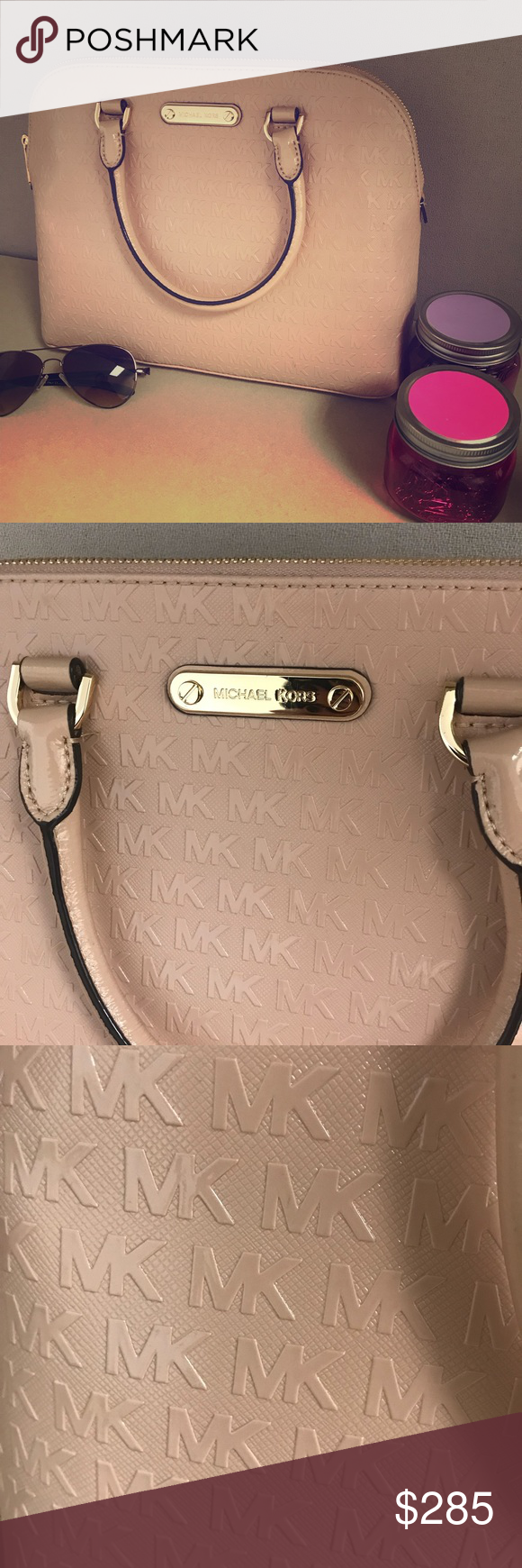880af26e1d791b Spotted while shopping on Poshmark: Michael Kors blush Cindy Dome satchel! # poshmark #fashion #shopping #style #Michael Kors #Handbags