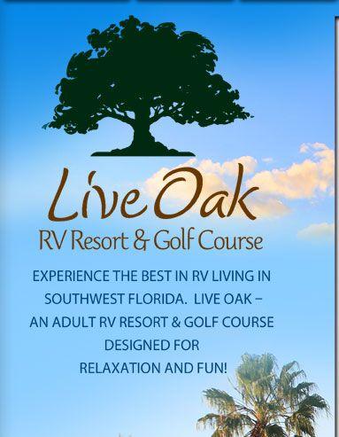 Arcadia Fl Live Oak Rv Resort And Golf Course Golf Courses Golf Design Resort