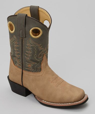 Western Cowboy NEW Brown Camo Leather Smoky Mountain Boots CHILD/'S