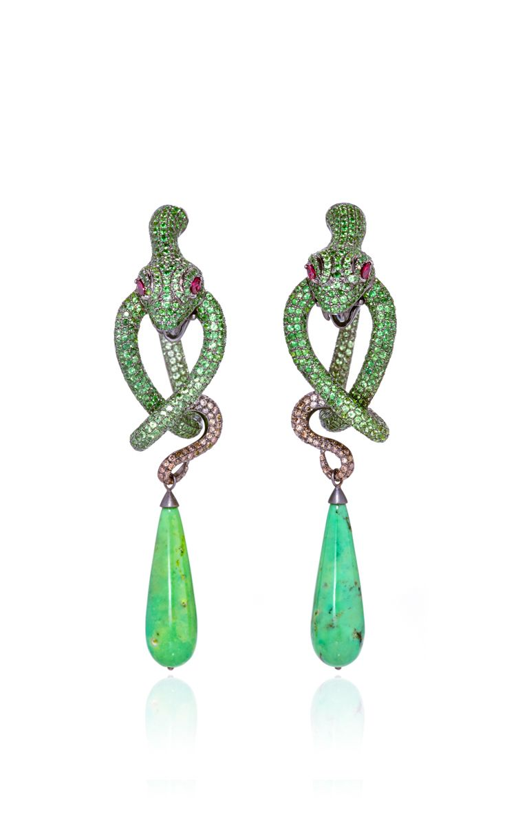 One of a Kind Amazonia Earrings by Lydia Courteille for Preorder on Moda Operandi