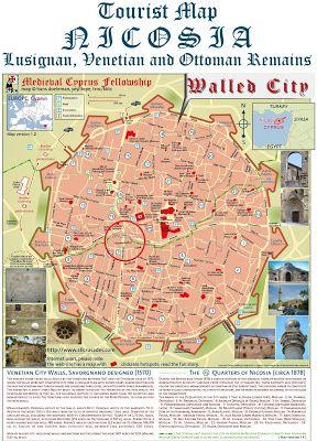 Map of Nicosia Cyprus Cyprus Pinterest Nicosia cyprus and Cyprus