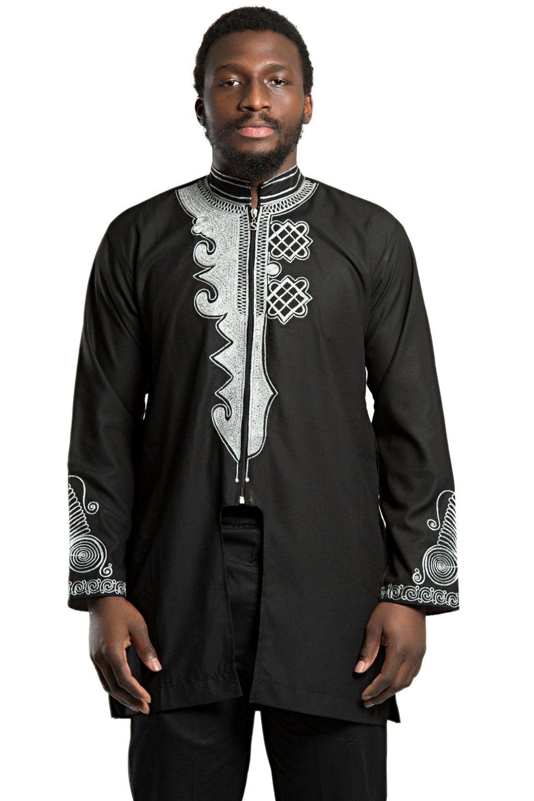 b1846df10c7ec African Men's Wear Black Panther Wakanda inspired / t'challa costume ...