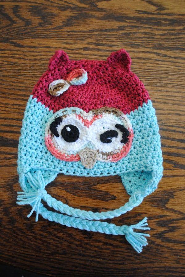 Winky Winky The Owl Free Crochet Hat Pattern Czapki Pinterest