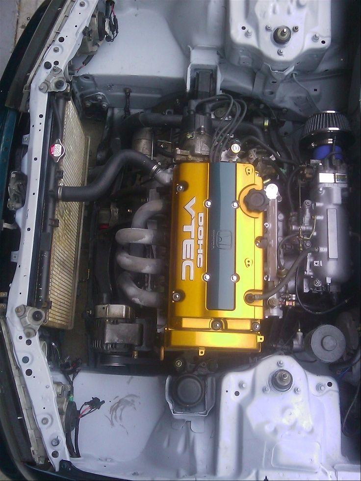 93 honda accord cb7 engine bay wire tuck super clean