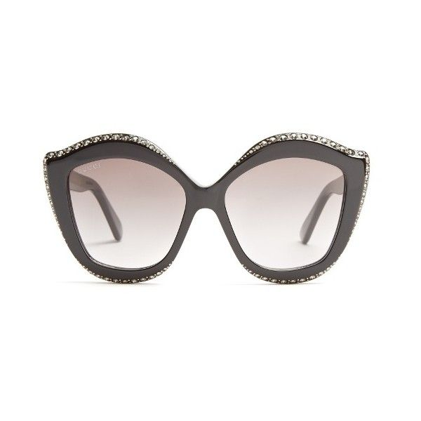 bb1bdcc211f Gucci Embellished cat-eye acetate sunglasses ( 675) ❤ liked on Polyvore  featuring accessories
