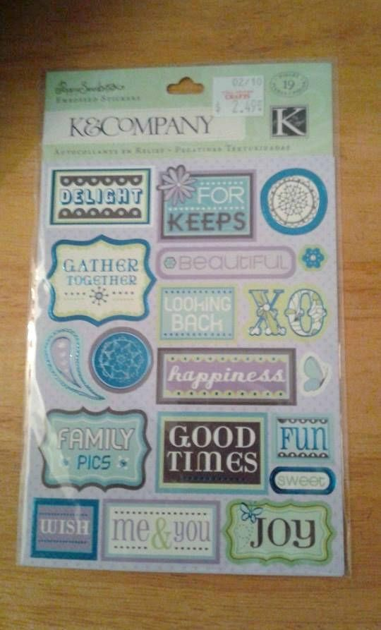 Scrapbook Stickers / sticker words / XO / happiness / GOOD TIMES - 2 X 4 Label Template 10 Per Sheet