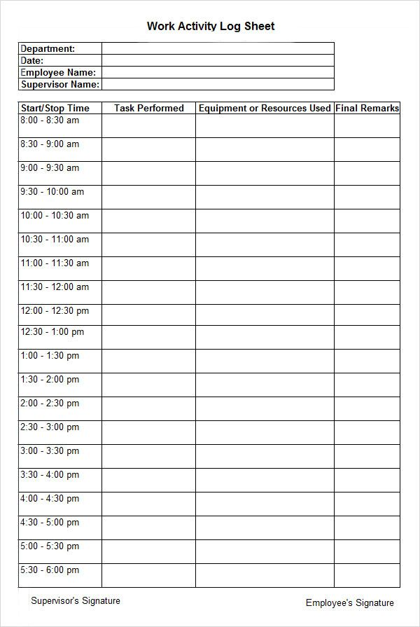 WorkActivityLogSheet  Joe    Logs And Activities