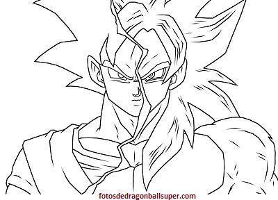 Dibujos Para Colorear Goku Super Saiyan 4 De Dragon Ball Gt Leo