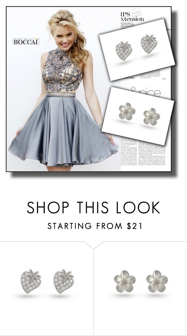 """""""boccaiearrings.com.au 9"""" by jnatasa ❤ liked on Polyvore featuring Sherri Hill and Wild Rose"""