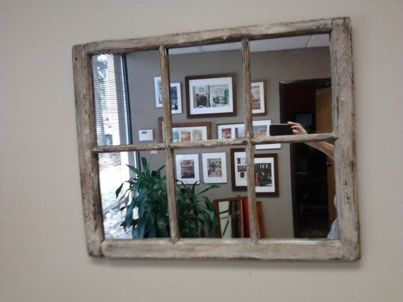Heavy Distressed 6 Pane Window Mirror By Thedecorativecompany 139 00 Home Decor Mirrors Window Mirror Dining Room Windows