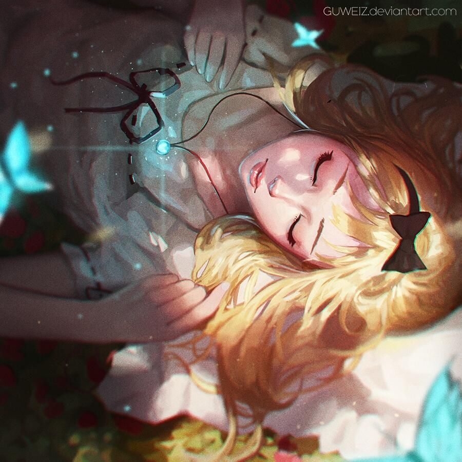 Sleeping beauty 😴😪 fantasy girl forest sleeping