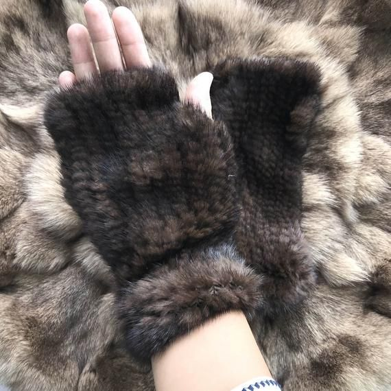 Clever Real Mink Fur Winter Gloves Womens Fashion Fox Fur With Mink Fur Mittens For Colorful Warm Thick Feminine Mittens Up-To-Date Styling Apparel Accessories
