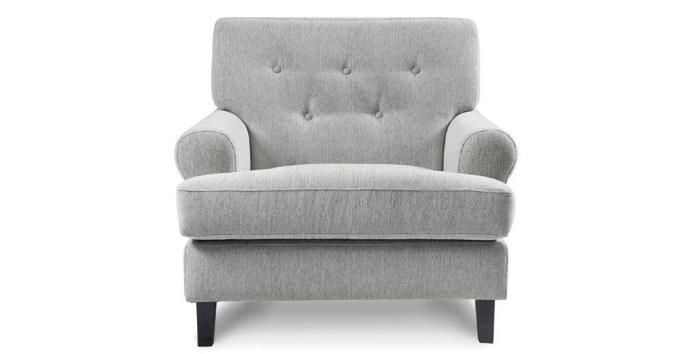 Hathaway Armchair, Light Gray   Classically Modern Armchair With  Comfortable Tufted Back. #volodesign