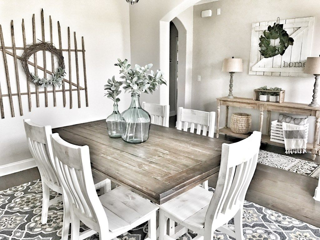5 Ways To Get The Simple Farmhouse Look Bless This Nest Farmhouse Dining Room Table Modern Farmhouse Dining Room French Country Dining Room