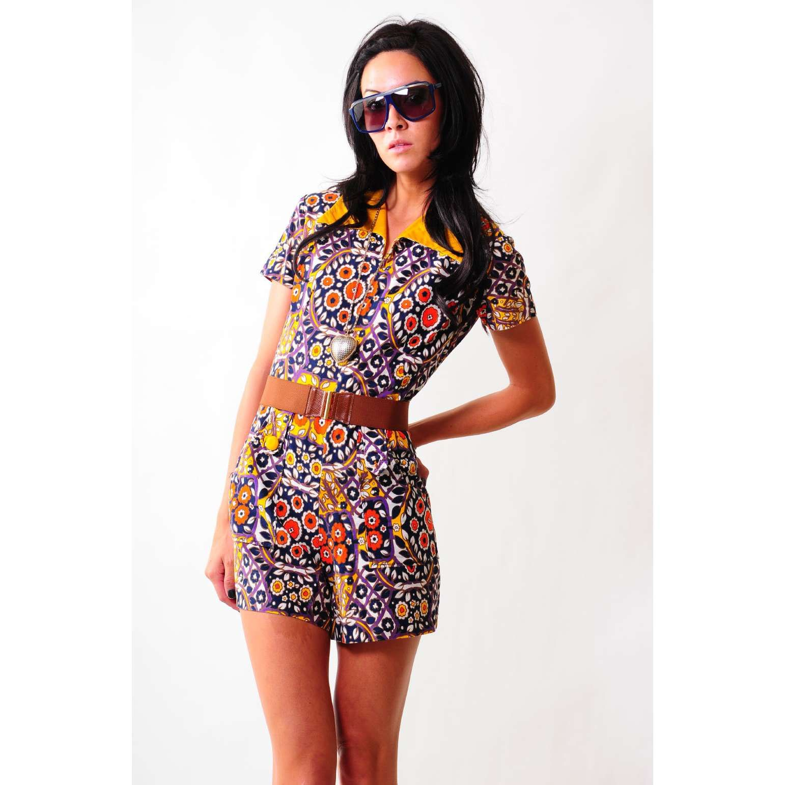 Clothes From The 60 39 S 60s Flower Child Romper Lavintage Photo 60 39 S Clothing Pinterest
