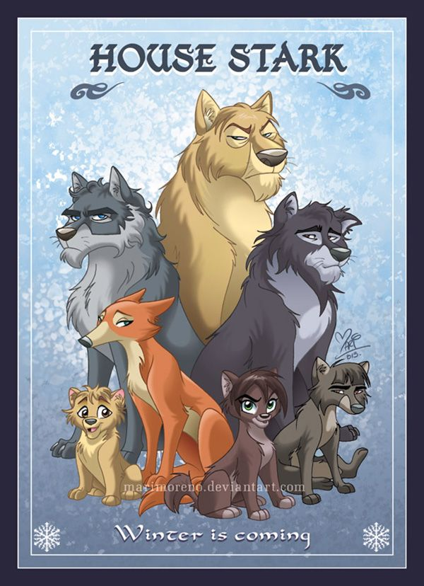 Mariana Moreno's Animated House Portraits - House Stark