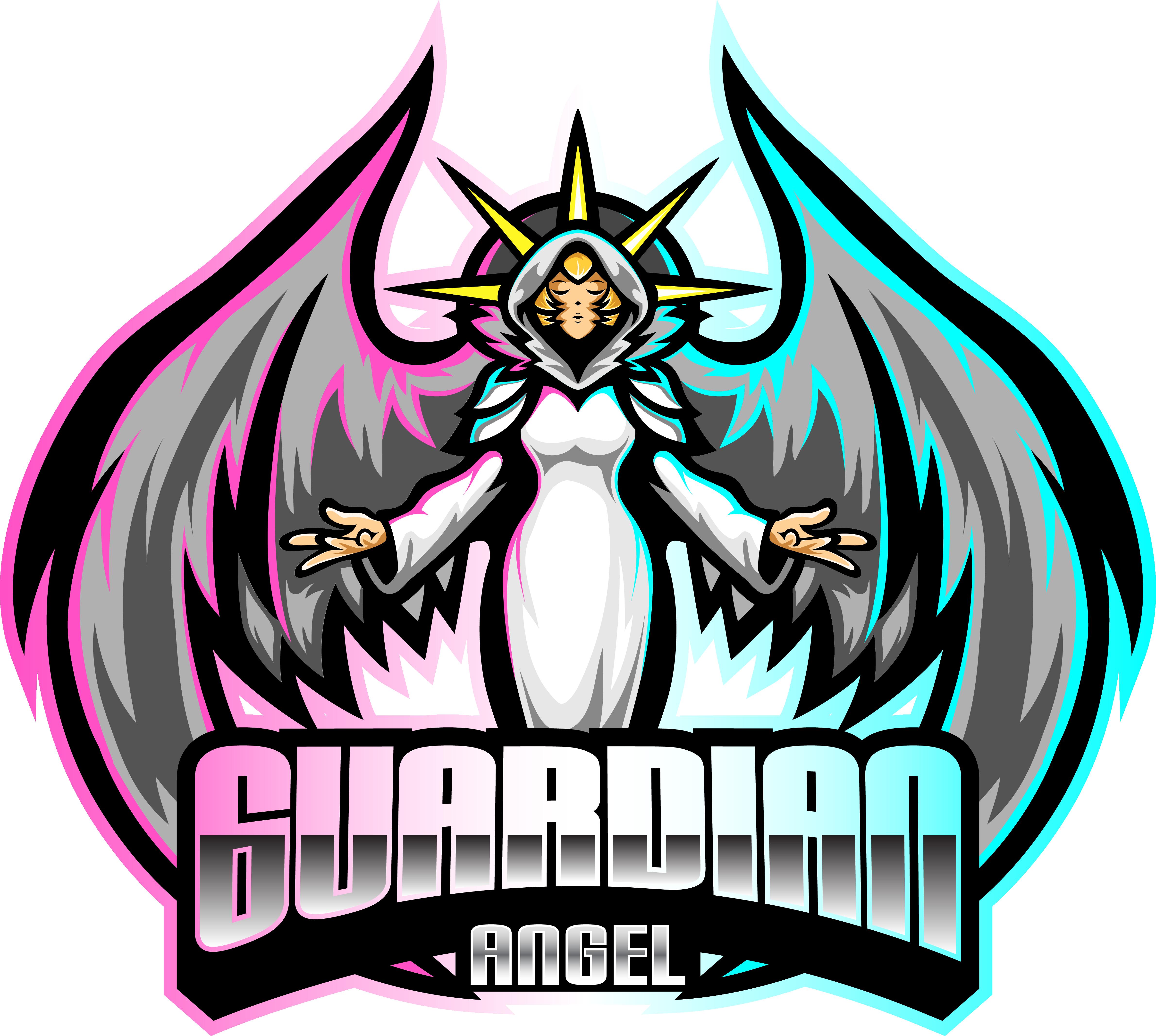 Guardian Angel Esport Mascot Logo Design By Visink Thehungryjpeg Com Esport Spon Mascot Guardian Angel Adve Angels Logo Mascot Business Card Texture