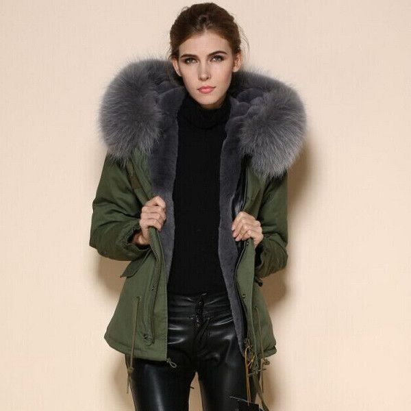 Ruby Raccoon Fur Collar Parka Short | Fashion | Pinterest ...