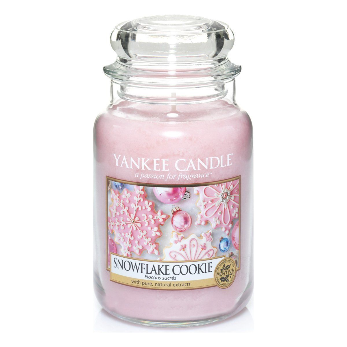Yankee candle large jar candle snowflake cookie amazon