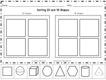 sortng 2d and 3d shapes math ideas pinterest 3d shapes 2d and 3d. Black Bedroom Furniture Sets. Home Design Ideas