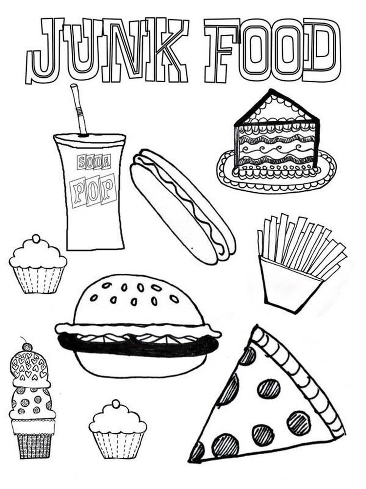 Baby Alive Food Coloring Pages Food Coloring Pages Food Coloring Healthy And Unhealthy Food