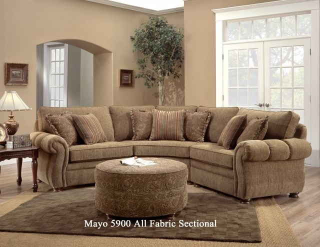 Mayo 14 Leather & Fabric Sectional by Adams Furniture in Justin