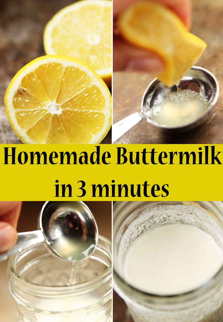 Make Your Own Buttermilk Recipe Make Your Own Buttermilk Buttermilk Recipes How To Make Buttermilk