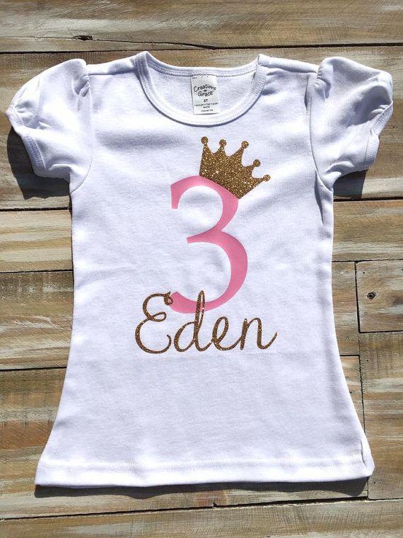 Custom Princess Birthday Vinyl Shirt By CutesyTDesigns On Etsy