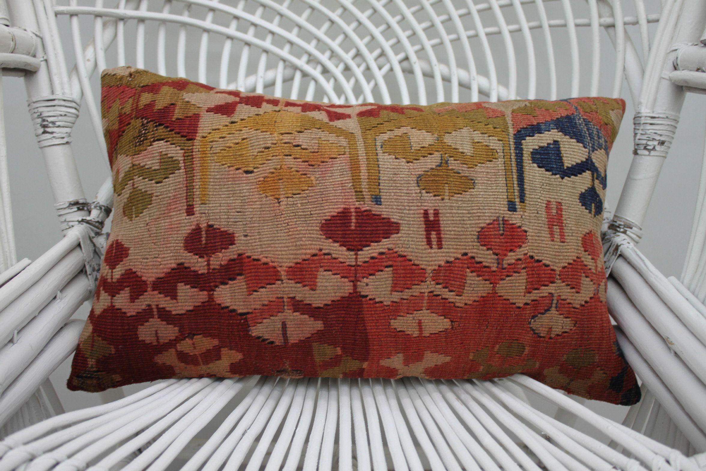 Kilim pillows boho pillows aztec pillows moroccan pillow 12x20 throw pillows turkish pillows cushion cover lumbar 30x50 cm kilim pillow 2501