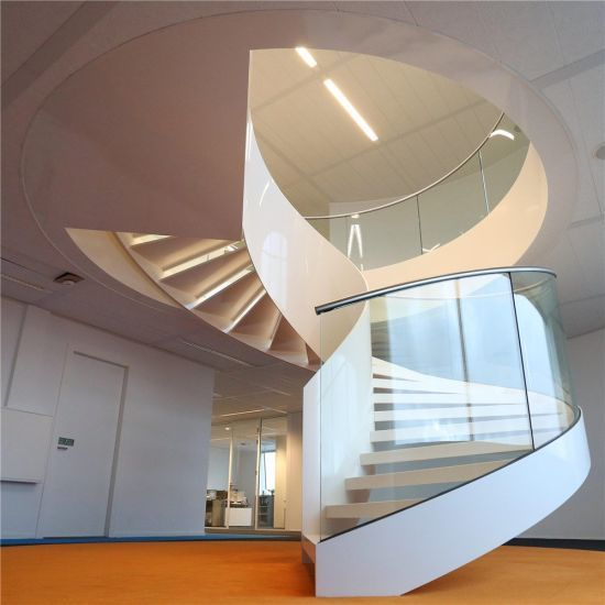 Best Hot Item Best Price Curved Glass Staircases With Bent Glass Railing Glass Spiral Staircase 400 x 300