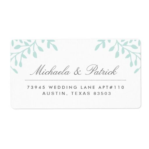 Mint Green Floral Address Labels Mint green, Floral and Label stickers