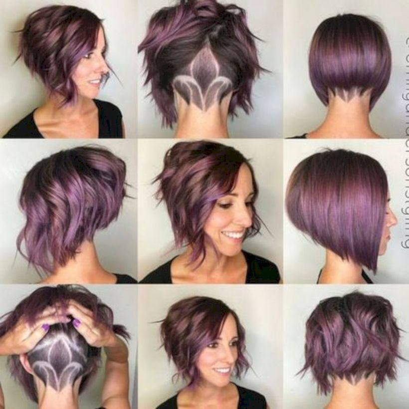 Edgy Hair Color For Short Hair Shoulder Length Short Edgy Hair Color